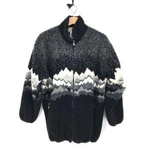 vintage Duffel Sportswear Sherpa fleece Zip-front